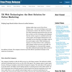 TS Web Technologies: the Best Solution for Online Marketing