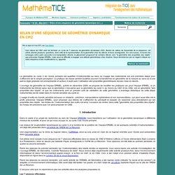 Bilan d'une séquence de géométrie dynamique en CM2