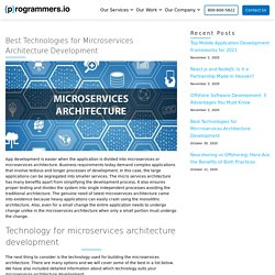 Technologies for Microservices Architecture Development