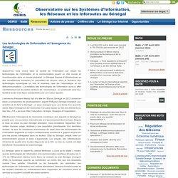 Les technologies de l'information et l'émergence du Sénégal