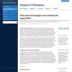 How social technologies are extending the organization - McKinsey Quarterly - High Tech - Strategy & Analysis