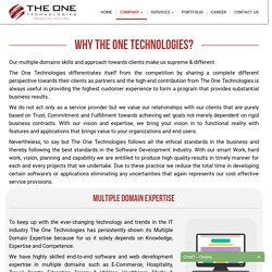 Why do you choose The One Technologies for Software Outsourcing?