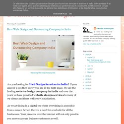 D Amies Technologies: Best Web Design and Outsourcing Company in India