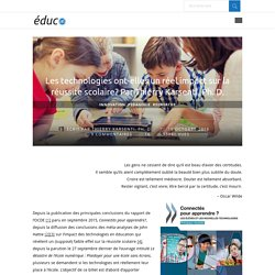 Les technologies ont-elles un réel impact sur la réussite scolaire? Par Thierry Karsenti, Ph. D. - éducO - le blogue d'innovation pédagogique
