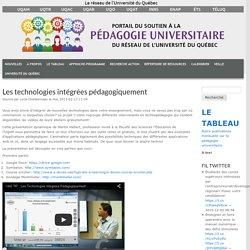 Les technologies intégrées pédagogiquement