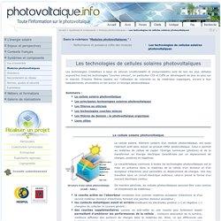 Les technologies de cellules solaires photovoltaïques