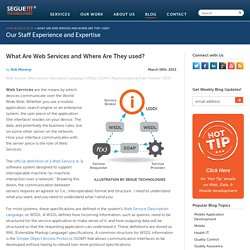 What Are Web Services and Where Are They used?