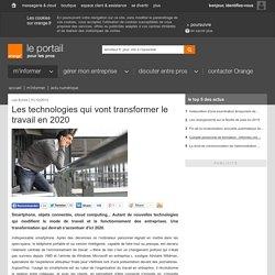 Les technologies qui vont transformer le travail en 2020