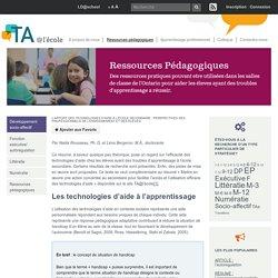 L'apport des technologies d'aide à l'école secondaire : perspectives des professionnels de l'enseignement et des élèves