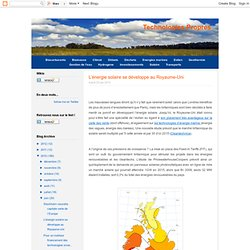 L'énergie solaire se développe au Royaume-Uni