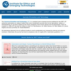 Institute for Ethics and Emerging Technologies: Publications