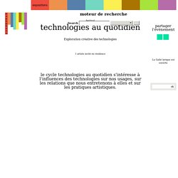 Technologies au quotidien