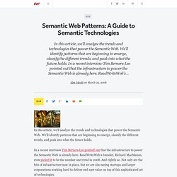 Semantic Web Patterns: A Guide to Semantic Technologies