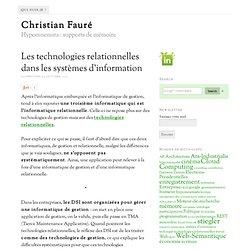 Les technologies relationnelles dans les systèmes d'information – Christian Fauré