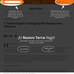 5 Technologies Changing the Restaurant Industry
