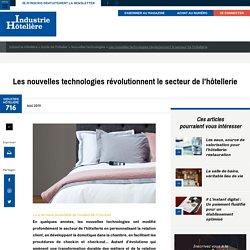 Les nouvelles technologies révolutionnent le secteur de l'hôtellerie
