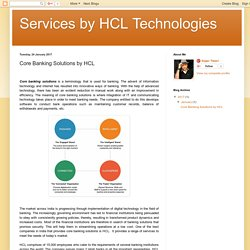 Core Banking Solutions by HCL