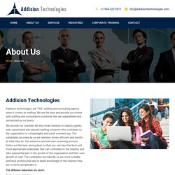Staffing and consulting agency