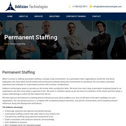 Permanent Staffing Solution