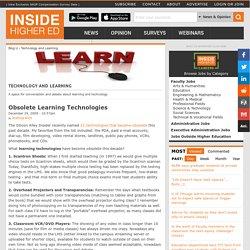Obsolete Learning Technologies
