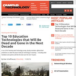 Top 10 Education Technologies that Will Be Dead and Gone in the Next Decade