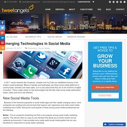 Emerging Technologies in Social Media - TweetAngels