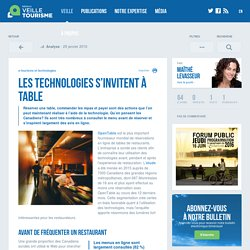 L'usage des technologies au restaurant - Veilletourisme.ca