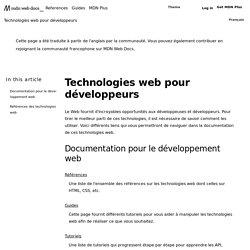 Technologies Web pour développeurs