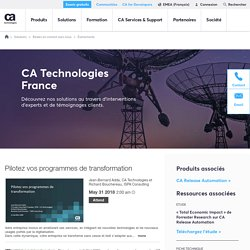 CA Technologies France Webcast Channel