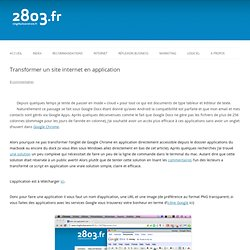 Transformer un site internet en application