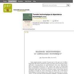 Transfert technologique et dépendance économique