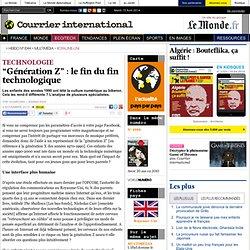 """""""Génération Z"""": le fin du fin technologique"""