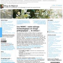 Lebrun_MOOC : entre mirage technologique et virage pédagogique