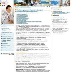 Collège, lycée d'enseignement général et technologique et lycée professionnel