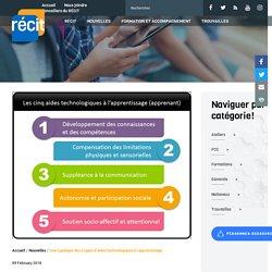 Une typologie des 5 types d'aides technologiques à l'apprentissage - Récit