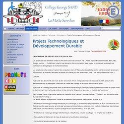 Technologie et Développement Durable - Collège George SAND