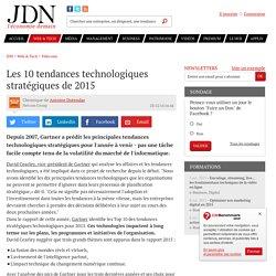 Les 10 tendances technologiques stratégiques de 2015