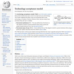 Technology acceptance model - Wikipedia