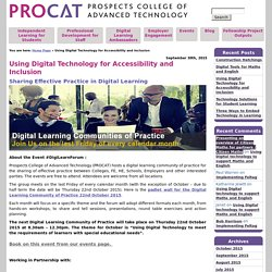 Using Digital Technology for Accessibility and Inclusion