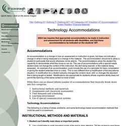 Technology Accommodations