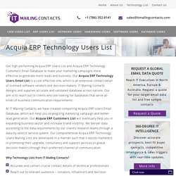 Accruent ERP Customers Email List