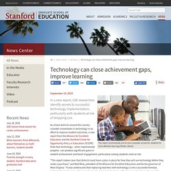 Report: Technology can close achievement gaps, improve learning