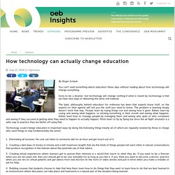How technology can actually change education