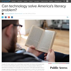 Can technology solve America's literacy problem?