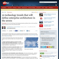 10 technology trends that will define enterprise architecture in the 2010s
