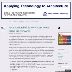 Revit Room Schedule to Compare Actual versus Program Area