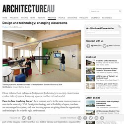 Design and technology: changing classrooms