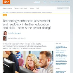 Technology-enhanced assessment and feedback in further education and skills – how is the sector doing?