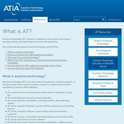 What is AT? - Assistive Technology Industry Association