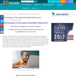 Technology in the Large Ensemble Classroom - National Association for Music Education (NAfME)